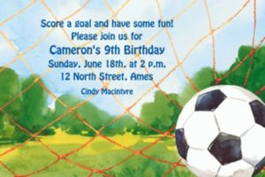 Custom Soccer Net Invitations