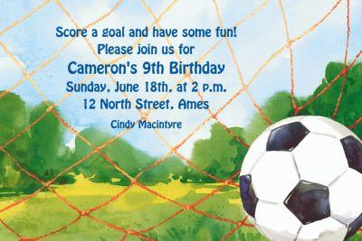 Soccer Net Custom Invitation