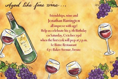 Custom Aged Like Fine Wine Invitations