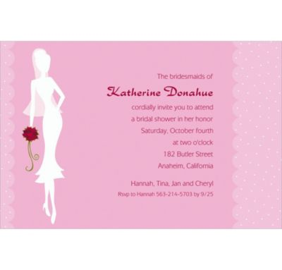 Custom Sassy Bride Bridal Shower Invitations