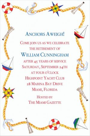 Custom Nautical Doodads Invitations