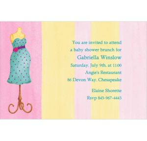 Custom Lovely Mommy Dress Form Baby Shower Invitations