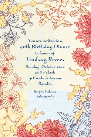 Custom Asian Pastiche Invitations