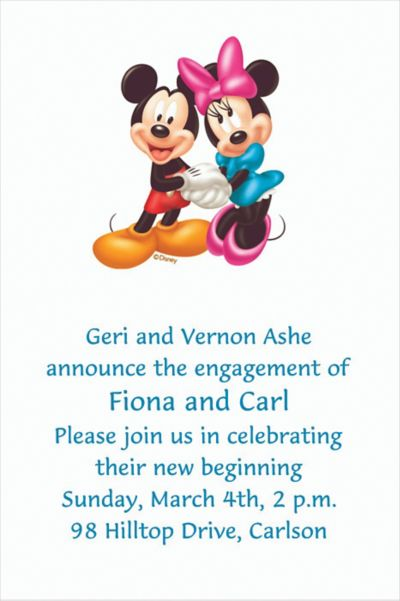 Custom Mickey and Minnie Mouse Birthday Invitations