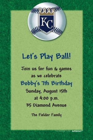 Custom Kansas City Royals Invitations