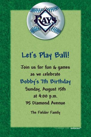 Custom Tampa Bay Rays Invitations