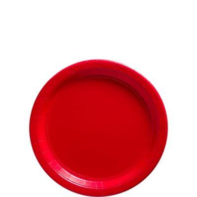 Red Paper Dessert Plates 20ct