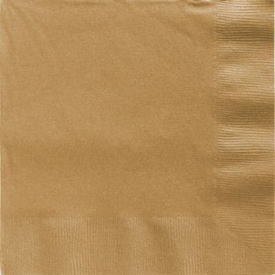Gold Dinner Napkins 20ct