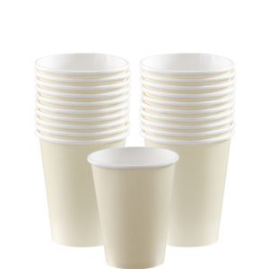 Vanilla Cream Paper Cups 20ct