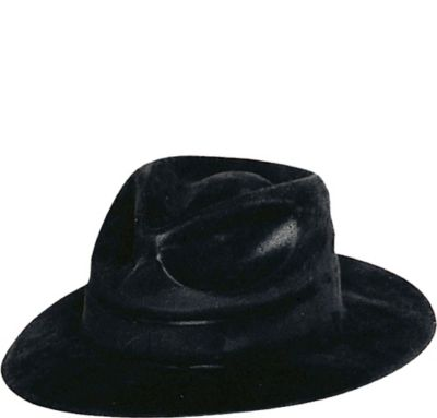 Black Felt Gangster Hat