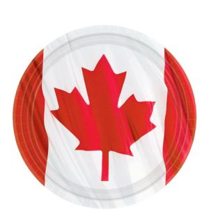 Waving Canadian Flag Dessert Plates 12ct