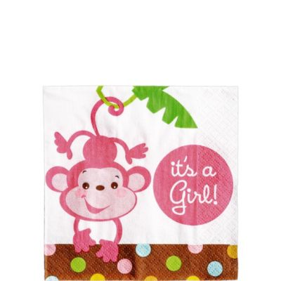 Girl Fisher Price Baby Shower Beverage Napkins 16ct