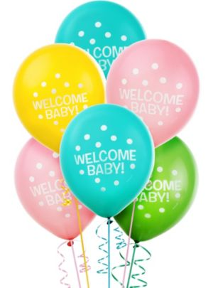 Welcome Baby Shower Balloons 15ct