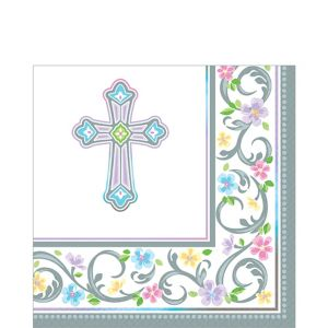Blessed Day Religious Lunch Napkins 36ct