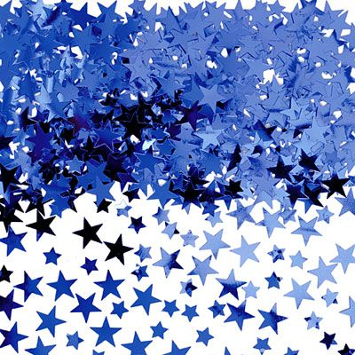 Royal Blue Star Confetti 5oz