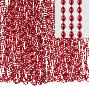 Metallic Red Bead Necklaces 50ct