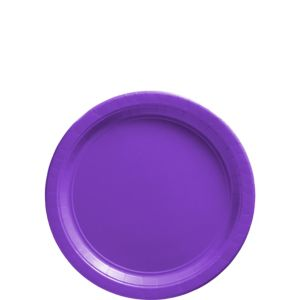 Big Party Pack Purple Paper Dessert Plates 50ct