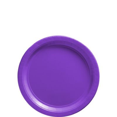 Purple Paper Dessert Plates 50ct