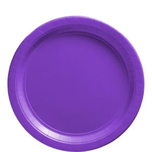 Big Party Pack Purple Paper Lunch Plates 50ct