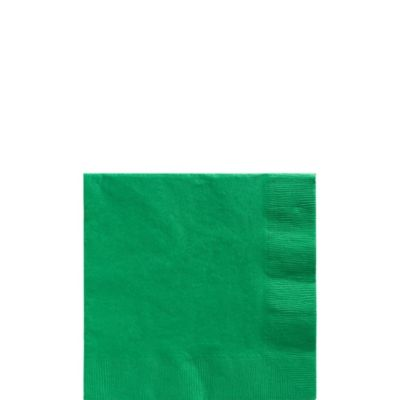 Festive Green Beverage Napkins 125ct