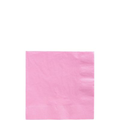 Pink Beverage Napkins 125ct