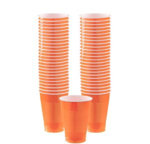 BOGO Orange Plastic Cups 50ct