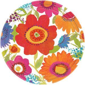 Floral Splash Dessert Plates 8ct