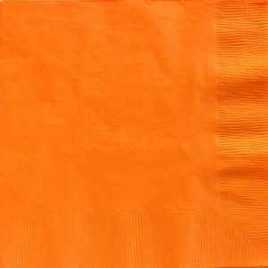 Big Party Pack Orange Dinner Napkins 50ct