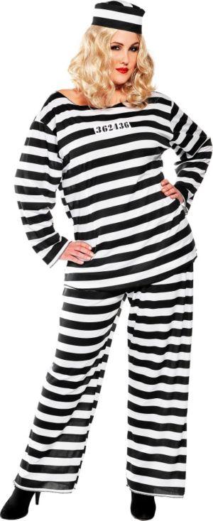 Adult Lady Lawless Prisoner Costume Plus Size