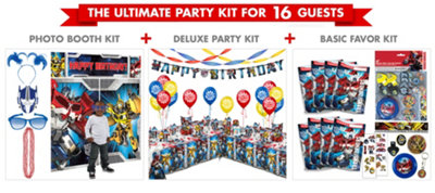 Transformers Party Supplies Ultimate Party Kit