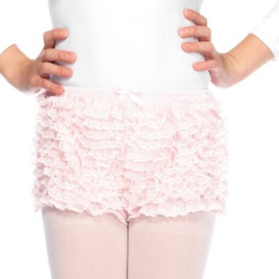 Child Pink Ruffled Shorts