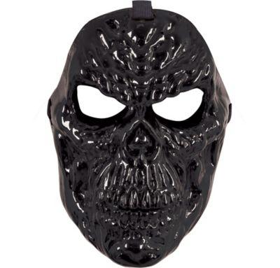 Black Metallic Skull Mask