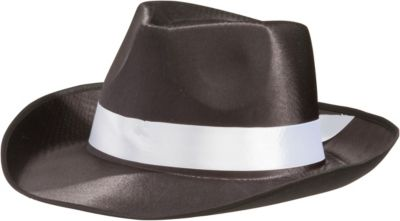 Satin Band Gangster Hat