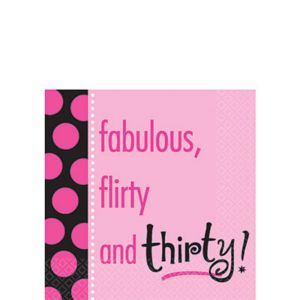 Another Year & Fabulous 30 Beverage Napkins 16ct