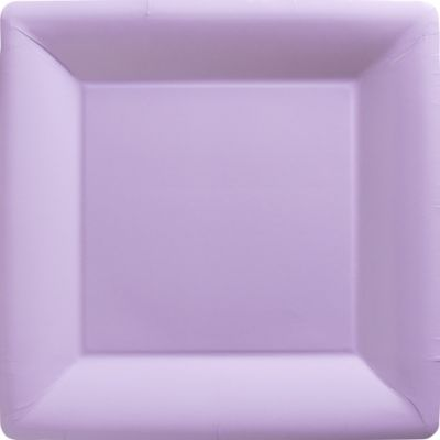 Lavender Paper Square Dinner Plates 20ct