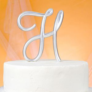 Monogram H Wedding Cake Topper