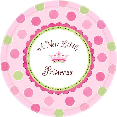 Little Princess Baby Shower Dinner Plates 8ct
