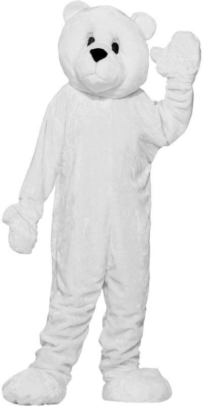 Adult Mascot Polar Bear Costume