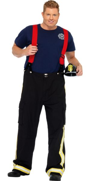 Adult Fireman Costume Plus Size