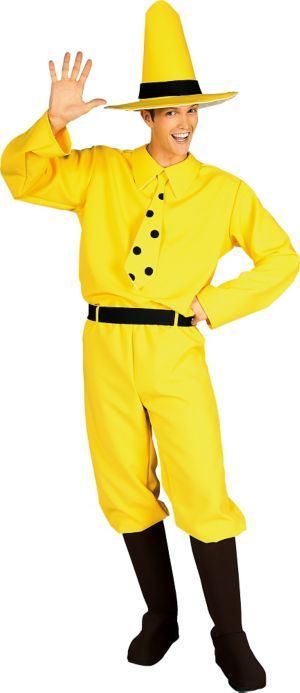Adult The Man in the Yellow Hat Costume - Curious George