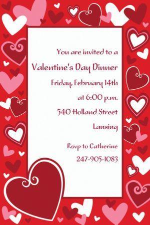 Custom Be Mine Valentine's Day Invitations