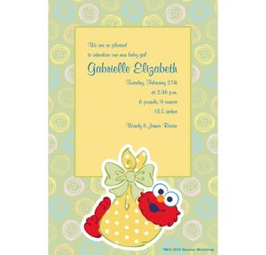 Custom Baby Elmo Birth Announcements