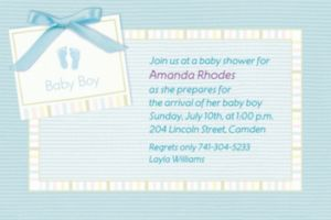 Custom Baby Soft Blue Baby Shower Invitations