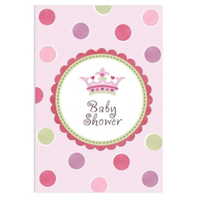 Little Princess Baby Shower Invitations 8ct