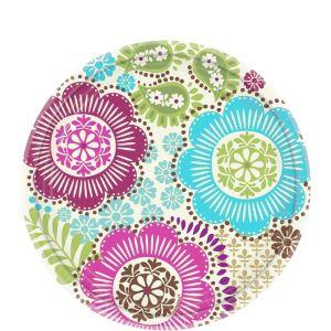 Fashion Floral Dessert Plates 8ct
