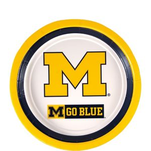 Michigan Wolverines Dessert Plates 12ct