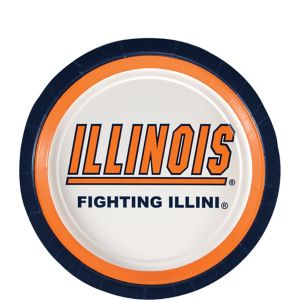 Illinois Fighting Illini Dessert Plates 12ct