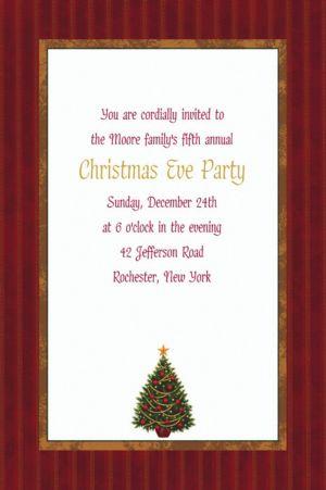 Custom Twinkling Tree Christmas Invitations