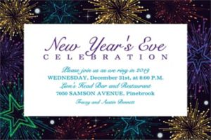 Custom Midnight Marquee New Year's Invitations