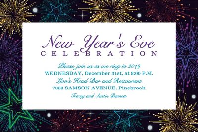 Midnight Marquee Custom Invitation